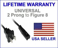 2 Prong Pin Port AC Power Cord 5' Cable for PS2 PS3 Slim PS4 Laptops Printers