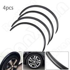 4Pcs Carbon Fiber Look Auto Wheel Eyebrow Arch Lips Strip Fende