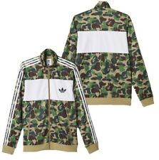 Adidas x A Bathing Ape Bape Men's Firebird Jacket Green Camo BK4569 Extra Large
