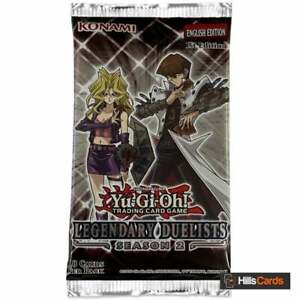 YuGiOh Legendary Duelists Season 2 Sealed Booster Pack of 18 Trading Cards TCG