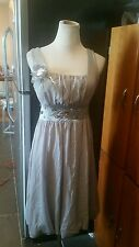 Crystal dress sparkle gray sleeveless bubble stones new with tags