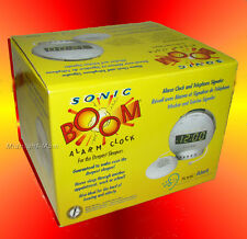 Full Size- SONIC BOOM Extra Loud ALARM CLOCK with FLASHING LIGHT & Bed VIBRATOR