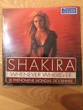 Shakira - Whenever Wherever Card Sleeve CD Single France Sticker