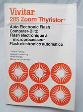 Vivitar model 285 Zoom Thyristor electronic flash instruction manual