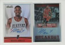 2016/17 Panini Studio Basketball / Maurice Harkless / 2 Limited Signatures cards