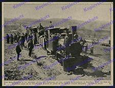 Bufa Dampflok Eisenbahn Schmalspur Feldbahn-Station Armee Nachschub Türkei 1918