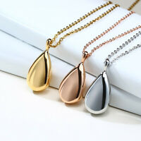 Personalized Engraving Teardrop Pendant Necklace Ash Urn Cremation Memorial Gift