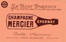 L48 Rare BUVARD Champagne MERCIER EPERNAY Se Boit Partout Qualité Supérieur
