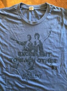 BILL AND TED's Excellent Adventure Vintage Movie T-SHIRT, Medium, Keanu Reeves