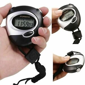 Digital Handheld Sports Stopwatch Stop Watch Timer Alarm Counter UK Seller.