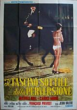 MONT-DRAGON Italian 2F movie poster 39x55 JACQUES BREL SEXPLOITATION '70 BDSM