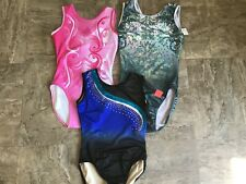 New! Lot Of 3 Gymnastics Leotard Size 16-18 axxl!