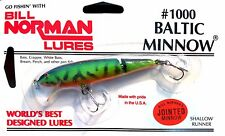 Vintage Bill Norman Lures Jointed FireTiger Baltic Minnow Shallow