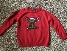 Class Club Childrens Red Christmas Sweater Size 4/5