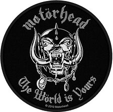 Motorhead The World Is Yours round sew-on cloth patch 90mm diameter  (ro)