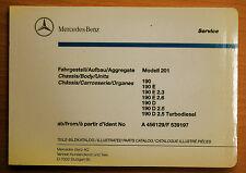 original Mercedes Benz Repuesto piezas Cuadro catálogo Serie 190 varios Idiomas