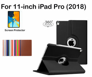 For Apple iPad Pro 11-inch (2018) Rotate PU Leather Smart Case Cover