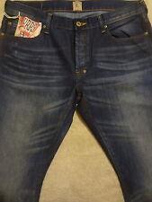 PRPS BARRACUDA Stained Blue Mens Jeans 33 x 32 Dark Wash Original $250+ Italian