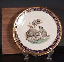 Vtg Lenox Boehm Woodland Wildlife Raccoons Collectors Plate in Box 1973