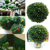 Artifical Plastic Green Grass Chic Ball 12-30cm Plant Hanging Home Garland Decor