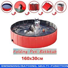 XXL 160cm Large Dog Puppy Pool Pet Bath Swimming Pool Foldable Paddling Bathing