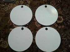 "4x 8inch Round 3/8"" Steel Hanging Shooting Targets"