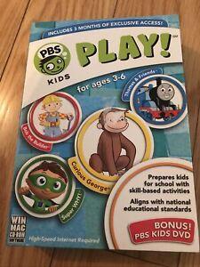 PBS Kids Play! Pc Game Win 7/XP/ Vista Or MAC OS X