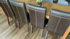 """4 Real Leather High Back """"Dijon""""  Dining  Chairs  Brown """"Lovely Quality*"""