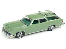 Auto World 1:64 1974 Buick Estate Station Wagon Green Diecast Car AWSP007 A