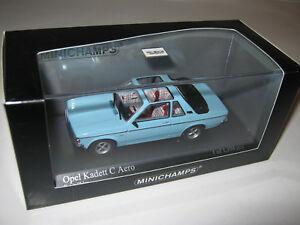 1:43 Opel Kadett C Aero Bleu 1978 Minichamps 400048130 Emballage Neuf 1 De 1104