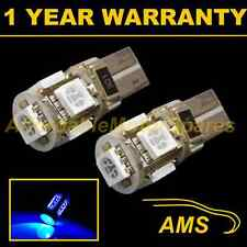 2x W5w T10 501 Canbus Error Free Azul 5 Led sidelight Laterales Bombillos sl101302