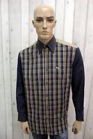 HARMONT&BLAINE Taglia XL Camicia Uomo Cotone Shirt Chemise Casual Manica Lunga
