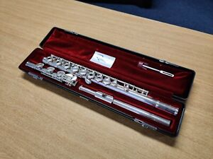 Yamaha YFL381 Open-Hole Flute - Silver Head, B Foot Joint (used, fully serviced)