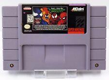 Super Nintendo SNES - Venom Spider Man Separation Anxiety - US Game