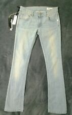 NEW W26 L30.5 MAURO GRIFONI light blue jeans boot cut vintage style designer