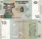 Congo Democratic Republic billet neuf de 10 francs pick 87 UNC