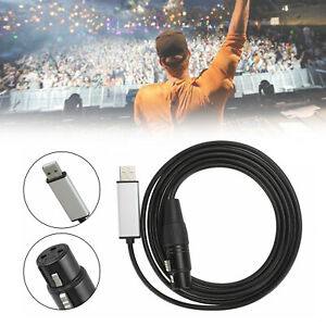 USB to DMX Interface Adapter DMX512 Stage Light Controller Cable Fits Computer