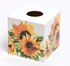 Sunflower Tissue Box Cover wooden handmade