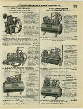 1932 PAPER AD 2 Sided Kellogg Air Compressor Bull Dog Gas Gasoline Two Stage