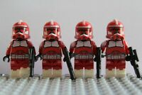 Star Wars Red Squad Commandos Storm Clone Troopers Mini Figures use with lego