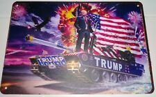 Large Donald Trump Tin Plaque Metal Sign Winner Glory Star & Stripes Americana