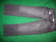 Men's Urban Up Pipeline Slim Straight Black Washed Jeans Cotton 32-33 x 30