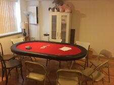 """Custom Brand New 72"""" Poker Table with Water Resistant Red Speed Felt"""