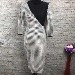 I love Ronson NWOT Black & White Women's XS Long Dress Side Slit