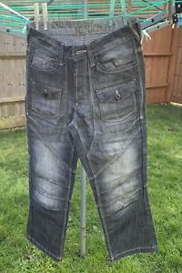 Mens Crosshatch Red Herring Slouch Jeans 30s