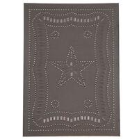 FEDERAL STAR Tin Panel in Blackened Tin