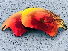 Nueva costumbre Espejo rojo rubí de fuego Reemplazo Lentes Oakley Fast Jacket XL