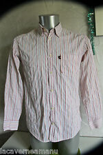 bonito camisa de rayas rosa arrugada MARLBORO CLASSICS talla pequeña