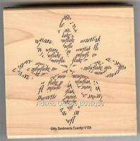 My Sentiments Exactly Rubber Stamp V-159 Large Snowflake, Winter ( NEW )   S3