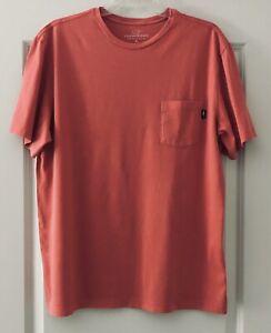 Men's VINEYARD VINES Pocket T-shirt Size M Coral